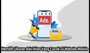 memilih ukuran iklan yang cocok di website mobile 1