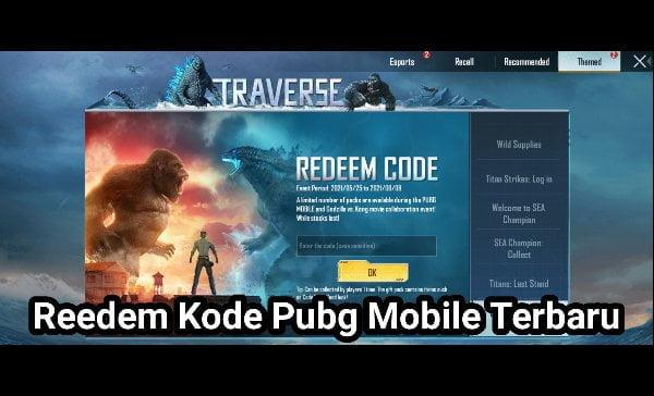 redeem kode Pubg mobile terbaru 1