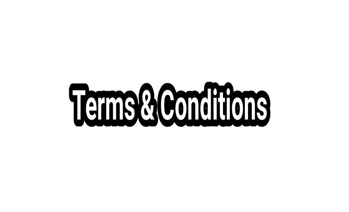 terms and coondition